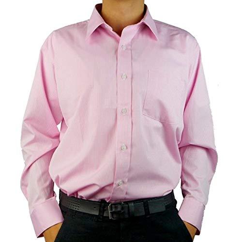 Polo Camisa de Vestir Formal para Hombre Color Rosa Talla G