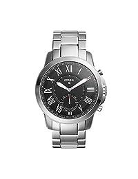 Fossil FTW1158 Smartwatch Híbrido Análogo para Hombre, color Negro