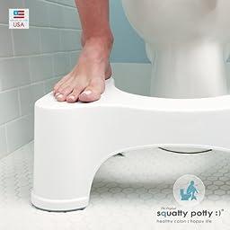 Squatty Potty The Original Bathroom Toilet Stool, White, 9\