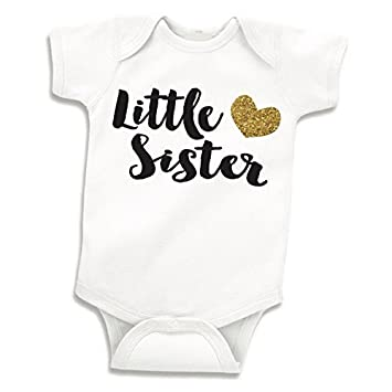07f2d9e19 Amazon.com: Little Sister Shirt, Baby Girl Outfits (0-3 Months): Baby