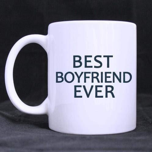 Funny Fashionable Boyfriend'S Gift Best Boyfriend Ever Funny Quotes Pattern Ceramic 11 Oz Coffee Mug White Mug