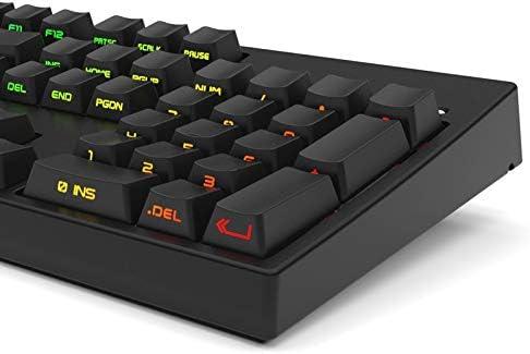 DADUIZHANG Profession Game Mechanical Black White Pbt Double Shot 104 108 Side-Lit Shine Through Translucent Backlit Keycaps for Mx Keyboardblack