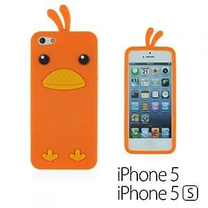 OnlineBestDigital - Chick Style Soft Silicone Case for Apple iPhone 5S / Apple iPhone 5 - Orange