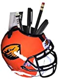 Athlon CTBL-018033 Oregon State Beavers Orange NCAA Football Schutt Mini Helmet Desk Caddy