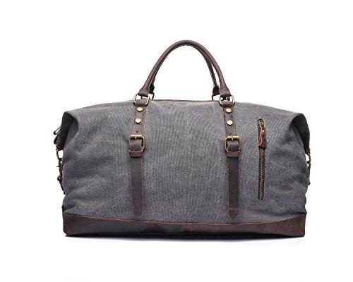Bolsos retros del viaje de los hombres Bolsos bordados locos del hombro de Horseskin Bolsas Bolsas Bags Gray