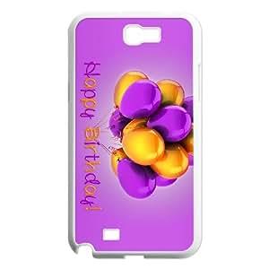 Purple Happy Samsung Galaxy N2 7100 Cell Phone Case White Spnpi