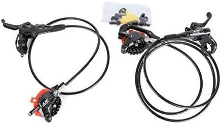 油圧ブレーキセットアイステック冷却パッドフロントとリアのためにマウンテンバイク自転車部品800/1500ミリメートル (Color : M8000 j02a Resin lec)