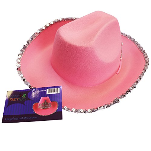 a513bd61aac Amazon.com  Cowgirl Hat - Princess Cowboy Hats for Women by Funny Party Hats   Toys   Games