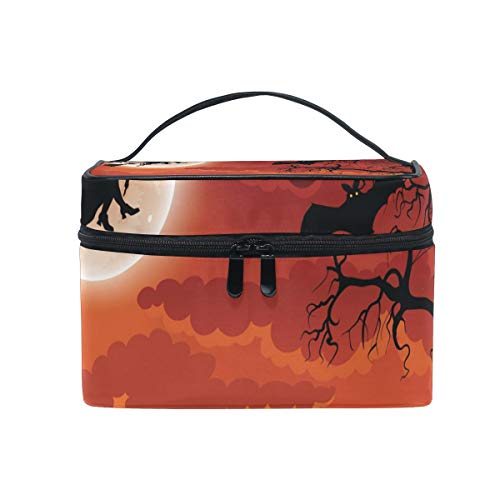 OREZI Halloween Wicked Witch Cosmetic Bag Large Multifunction Makeup Travel Toiletry Travel Kit Organizer Case with Quality Zipper Portable for Makeup Bag for Women