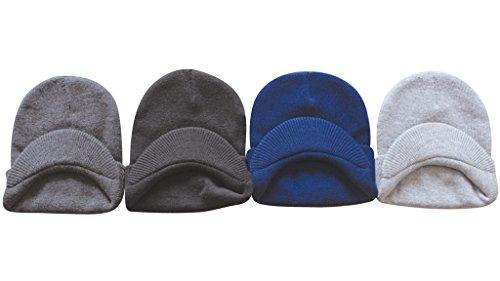 MJ Boutique (120 Pieces Per Case) Bulk Visor Beanie Hats / Wholesale (1) Lot of Jeep Caps (Assorted-Visor Beanie (Adults)) (Case Beanie Visor)