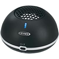 Jensen SMPS-620 Portable Bluetooth Rechargeable Mini Speaker with Hands-Free Speakerphone and USB Charging with Cable