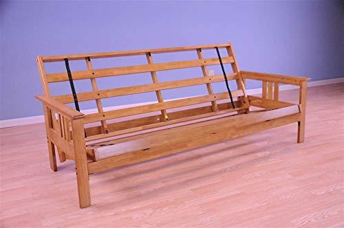 (Kodiak Furniture KFMOBTFRAMESET2 Monterey Futon Frame with Butternut Finish, Full, )