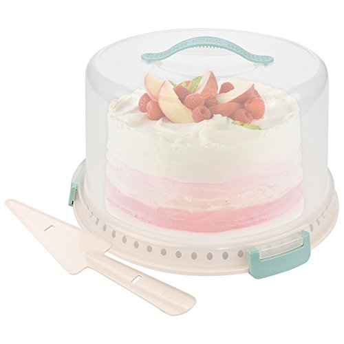 Sweet Creations, locking cake carrier with server, up to 10 inch, 3-layer cake, light blue and cream by Sweet Creations (Image #4)