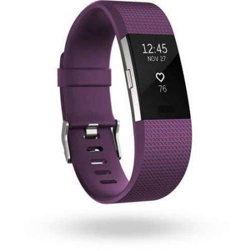 FitBit FB407SPML Charge 2 Activity Tracker + Heart Rate - Plum (Renewed) (Fitbit Charge 2 Activity Tracker Heart Rate Small)