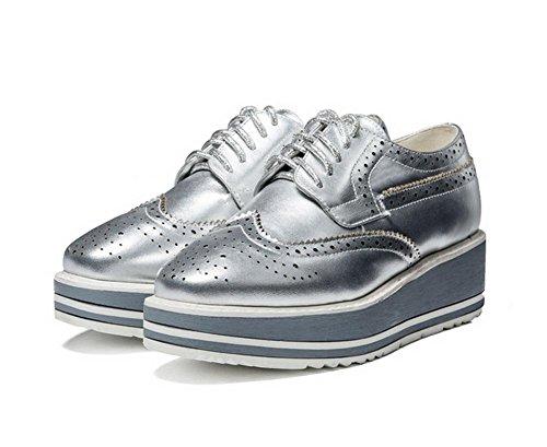 Ms. primavera e scarpe autunno con spessa con le scarpe fondo pesante pizzo scarpe scarpe delle donne , US6 / EU36 / UK4 / CN36