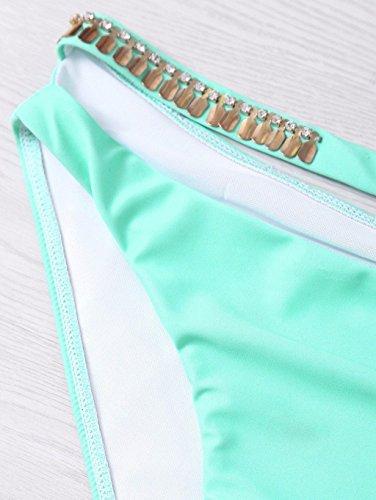 Moda Europa y los Estados Unidos Mermaid Swimsuit gradiente Shells Bikini Ladies Swimwear Shells