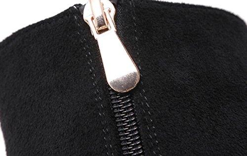 Ruvida moda retro donne YCMDM è con-tacco alto scarpe stivali Singolo , black , 34