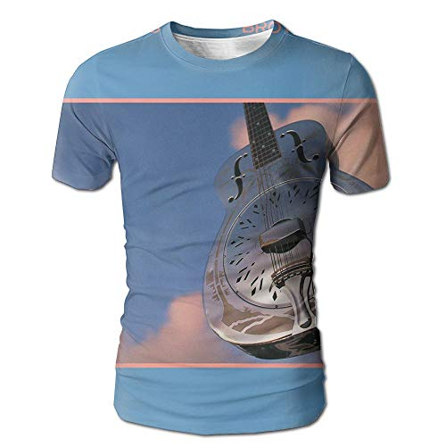 Geneva F Dire Straits Brothers in Arms Men's Fashion 3D Printed Short Sleeve T Shirts L