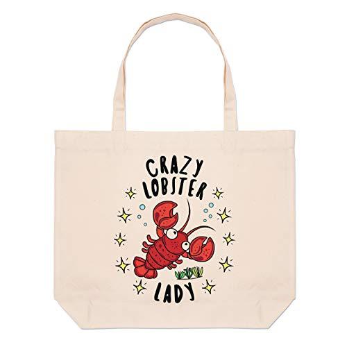 Beach Tote Lobster Large Bag Stars Lady Crazy Iqg1wzxTg