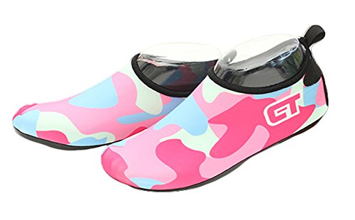 Fortuning's Water Neoprene Surf Skin Sole Durable Yoga Camouflage Socks JDS Swim Shoes Adult For Pink Water Sports Pool Aqua Barefoot Beach qnrUWIq