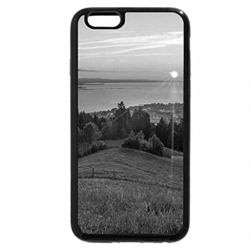 iPhone 6S Plus Case, iPhone 6 Plus Case (Black & White) - Sunset on the Pacific Coast