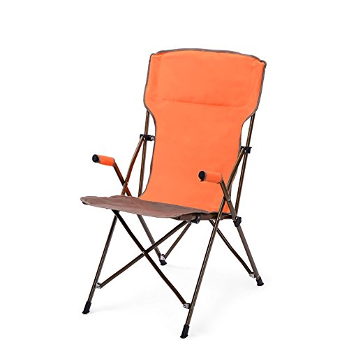 - ZXL Camping Chair Ultra Light Outdoor Activities BBQ Beach Folding Portable Fishing Chair - Heavy Duty 150kg Capacity (Color : Orange)
