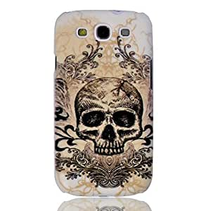Ink Skull Embossment Painting Pattern Plastic Hard Back Case Cover for Samsung Galaxy S3 I9300