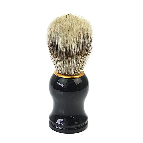 Price comparison product image Professional Face Facial Beard Mustache Shaving Brush Tool Black Plastic Handle
