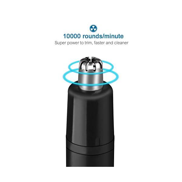 ANVAVA Rifinitore Naso Orecchie USB Ricaricabile, Tagliapeli per Naso Elettrico Rasoio per Naso Portatile con Cavo USB… 3 spesavip