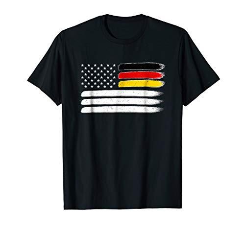 German American Flag T-Shirt Germany USA Shirt ()