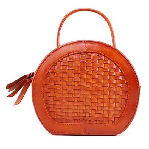 Seashell Mujeres color Vacuno Las Jakiload Bolso Diagonal De Hombro Piel Brass Bandolera Brass Tipo Colgante Volver HHq7v4BIO