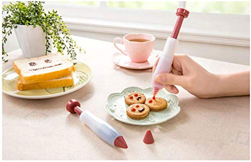 Astra shop Set of 2, Durable Silicone Decorating Pen/ Chocolate Writting Pen/ Cake Icing Pen/ Cake Decorating Tool