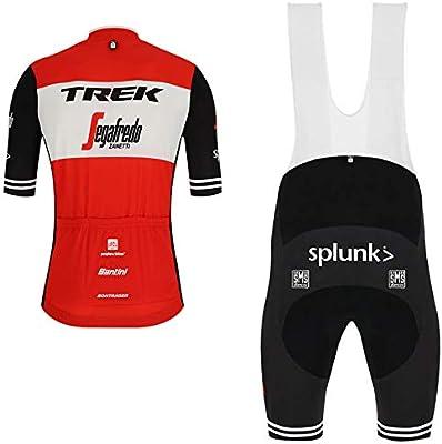 WOLFIRE WF Traje de Ciclismo para Hombre de Equipos. Culotte y Maillot. con 5D Gel Pad. para MTB, Spinning, Bicicleta de Carretera (T Rojo, L): Amazon.es: Deportes y aire libre