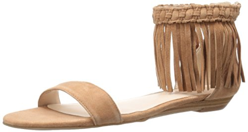 Nine West Wanderlust de la mujer Suede vestido sandalia Natural
