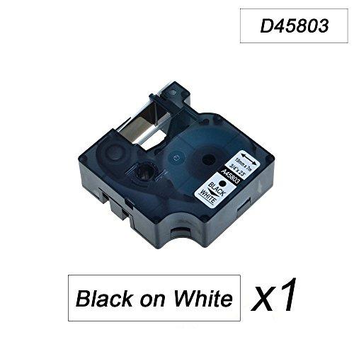 Etikettenband kompatibel für Dymo D1 45803 im Schwarz auf Weiß 19mm x 7m für Dymo Label Manager 500TS 420P 220P 120P 450D 350D 210D