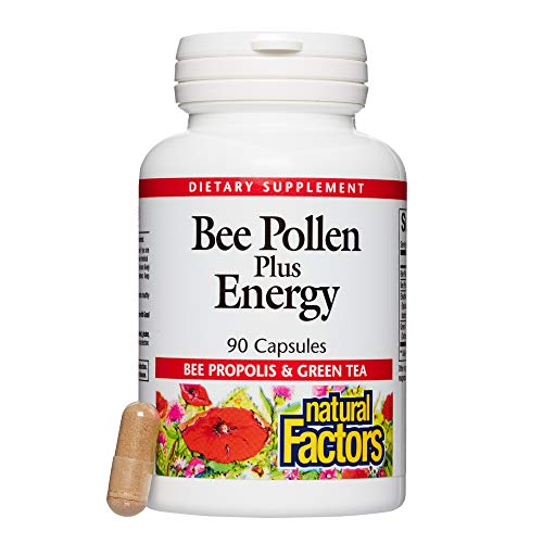 Natural Factors, Bee Pollen Plus Energy, Helps Endurance with Green Tea and Eleuthero Extracts, 90 capsules (90 servings)
