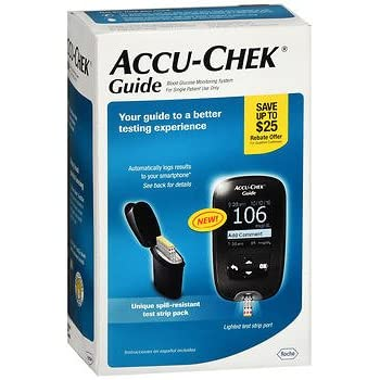 Amazon Com Accu Chek 174 Guide Blood Glucose Monitoring