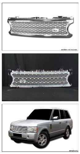 VXMOTOR for 2006-2009 Land Rover Range Rover Chrome/Silver Luxury Mesh Style Front Hood Bumper Grill Grille