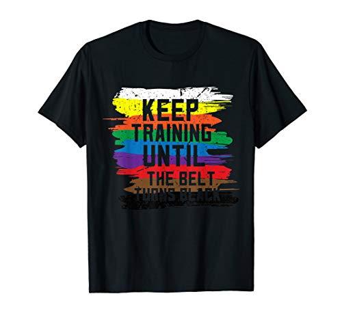 Black Belt Tshirt Martial Art Training Karate Tae Kwon - Art Black T-shirt