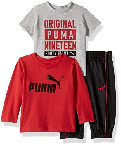 (PUMA Baby Boys' Tricot Pant Set, Ribbon red, 6-9)