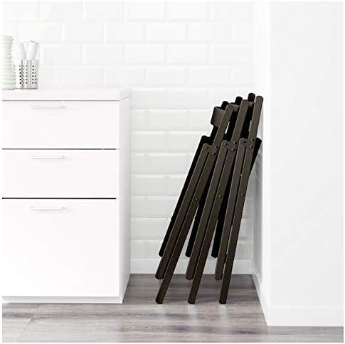 Tok Mark Traders TERJE Chaise pliante Noir 44 x 51 x 77 cm Durable et facile d'entretien Chaises pliables Chaises de salle à manger Chaises Meubles Respectueux de l'environnement