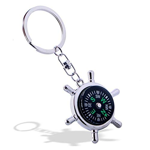 Weahre Keychain, New Fashion Style Rudder Compass Key Chain Ring - Compass Key