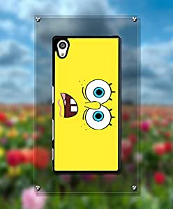 Cartoon Spongebob Squarepants Funda Case For Sony Z5, Unique Style Magnetic + Customized Pretty Attractive Style Tough Hard Compatible with Sony Xperia Z5 [Just fit for Z5]