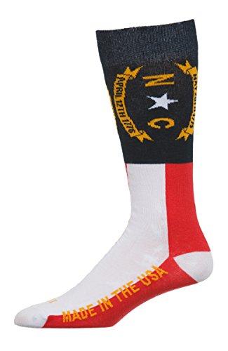 North Carolina Flag Dress Sock Made in The USA Large
