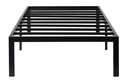 Olee Sleep T14BF04MOLVC 14'' Heavy Duty Steel Slat Bed Frame, Twin, Black by Olee Sleep