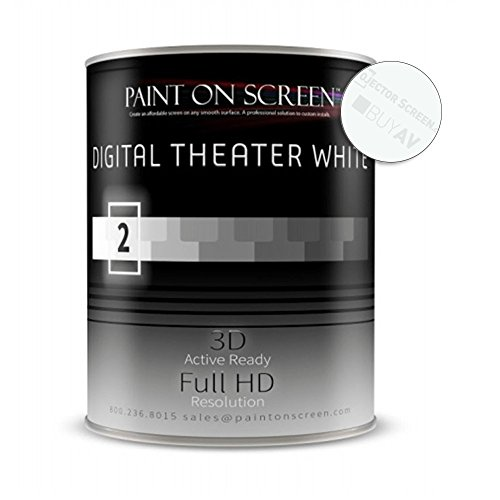 Paint On Screen Projector Screen Paint (G002 Digital Theater White - Gallon) by Paint on Screen