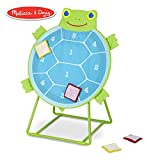Melissa & Doug Sunny Patch Dilly Dally Tootle Turtle Target Game (Active Play & Outdoor, Two Color Self-Sticking Bean Bags, 22' H x 14.7' W x 2' L)