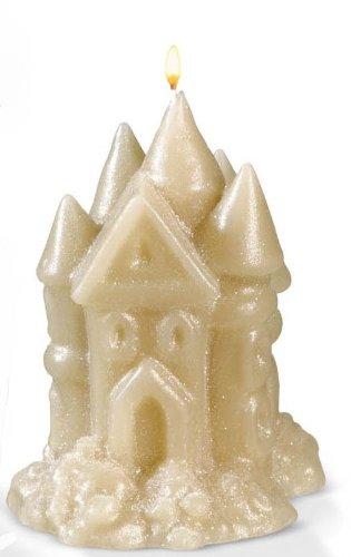 Grasslands Road Sculpted Wax Sandcastle Candle, 4-Inch, Set of 6