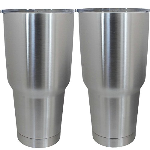 TITANIC 30 oz Rambler, Set of 2, 30oz Double Wall Vacuum Insulated Stainless Steel Tumbler Cups - Cooler than YETI - DRINK MORE WATER 2 PACK of Travel Ramblers now w/ NEW LIDS!