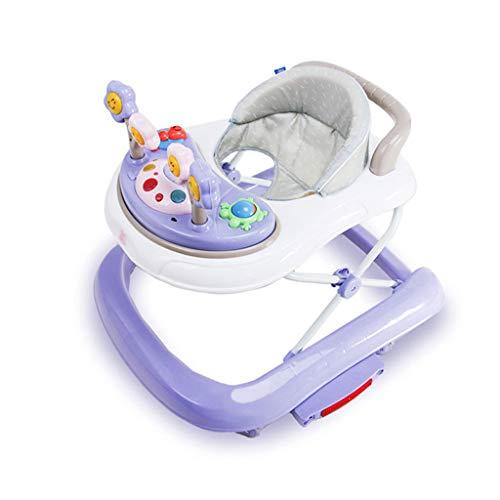 Andador Infantil Anti-o-Legs Anti-Rollo multifunción Empujador Plegable de Empuje Manual para niños FANJIANI (Color :...